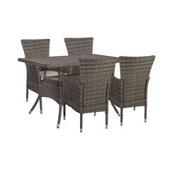 Lauko baldų komplektas Paloma, pilkas kaina ir informacija | Lauko baldų komplektai | pigu.lt