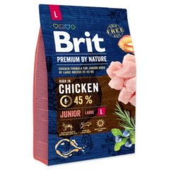 BRIT Premium By Nature Junior Large L, 15 kg kaina ir informacija | BRIT Premium By Nature Junior Large L, 15 kg | pigu.lt