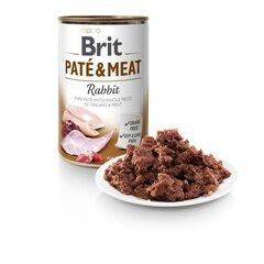 BRIT CARE konservai Pate&meat su triušiena, 400 g kaina ir informacija | BRIT CARE konservai Pate&meat su triušiena, 400 g | pigu.lt