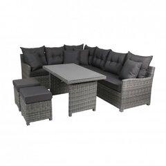 Lauko baldų komplektas Miami Comfort, pilkas kaina ir informacija | Lauko baldų komplektai | pigu.lt