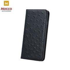 Apsauginis dėklas-knygutė Mocco Smart Dots, skirtas Apple iPhone 5 / 5S / SE, juodos spalvos