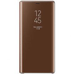 Samsung Galaxy Note 9 Clear View Standing Case Brown kaina ir informacija | Telefono dėklai | pigu.lt