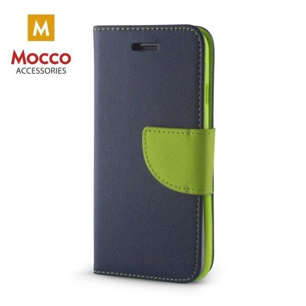 Mocco Fancy Case Чехол Книжка для телефона Sony Xperia XA1 Plus Синий / Зелёный