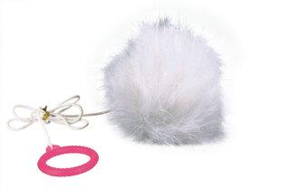 Trixie pūkuotas kamuoliukas su guma, 7 cm