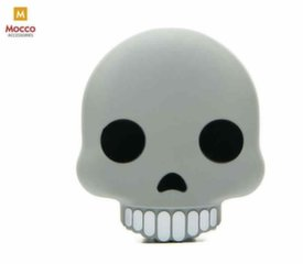 Mocco Emoji Skull Power Bank 2600mAh Universal Charger for devices 5V 1 A + Micro USB Cable White