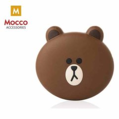 Mocco Emoji Bear Power Bank 2600mAh Universal Charger for devices 5V 1 A + Micro USB Cable White