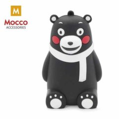 Mocco Emoji Black Bear Power Bank 2600mAh Universal Charger for devices 5V 1 A + Micro USB Cable White