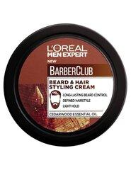 Barzdos formavimo kremas L'Oreal Paris Men Expert Barber Club vyrams 75 ml kaina ir informacija | Barzdos formavimo kremas L'Oreal Paris Men Expert Barber Club vyrams 75 ml | pigu.lt