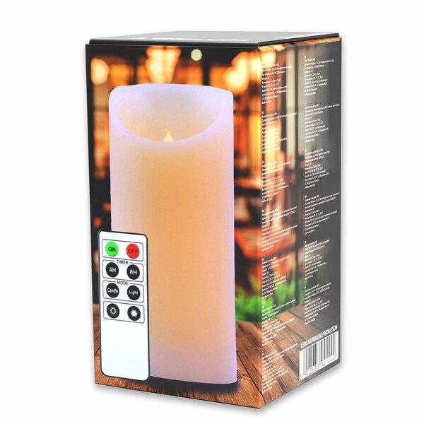 Dekoratyvinė LED žvakė su nuotolinio valdymo pulteliu, 15 cm kaina