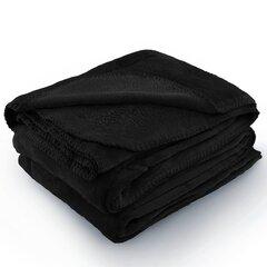 AmeliaHome mikrofibros pledas Tylet Black, 70x150 cm kaina ir informacija | Lovatiesės ir pledai | pigu.lt