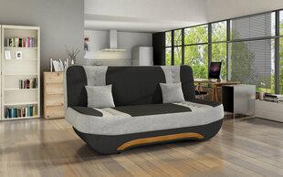 Sofa Ewa II, juoda/pilka kaina ir informacija | Sofos, foteliai ir minkšti kampai | pigu.lt