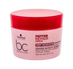 Kaukė pažeistiems plaukams Schwarzkopf Professional BC Bonacure Peptide Repair Rescue 200 ml