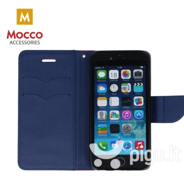 Mocco Fancy Book Case For Xiaomi Redmi Note 5 Pro Red - Blue pigiau