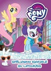 Spalvinimo knyga su lipdukais Mažieji Poniai (My Little Pony) kaina ir informacija | Knygos vaikams | pigu.lt