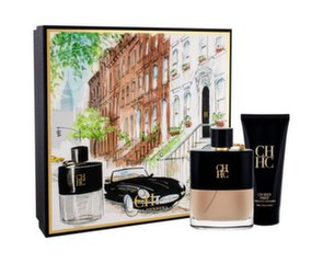 Rinkinys Carolina Herrera CH Men Prive: EDT vyrams 100 ml + balzamas po skutimosi 100 ml