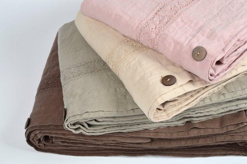 Lininis užvalkalas antklodei Sense Chocolate, 1 vnt