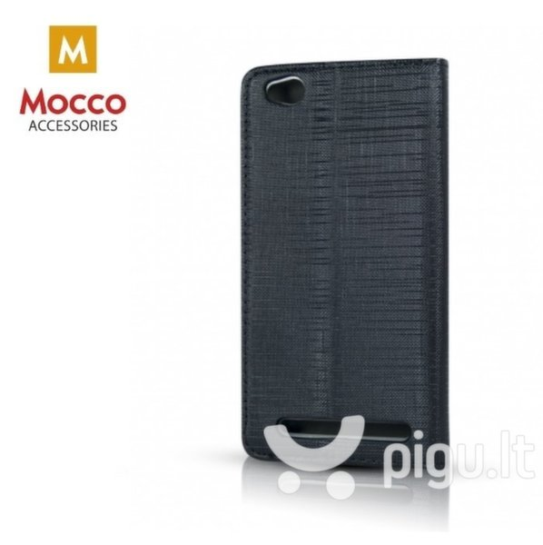 Atverčiamas dėklas Mocco Jeans telefonui Samsung J4 (2018), juodas kaina