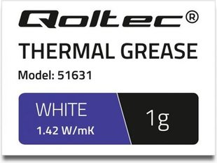 Qoltec Thermal grease 1.42 W / m-K | 1g White (51631)