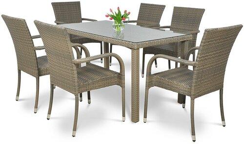 Lauko baldų komplektas Rimini/Venecja, pilkas kaina ir informacija | Lauko baldų komplektai | pigu.lt