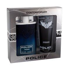 Rinkinys Police Frozen: tualetinis vanduo EDT vyrams 100 ml + dušo želė vyrams 100 ml kaina ir informacija | Kvepalai vyrams | pigu.lt