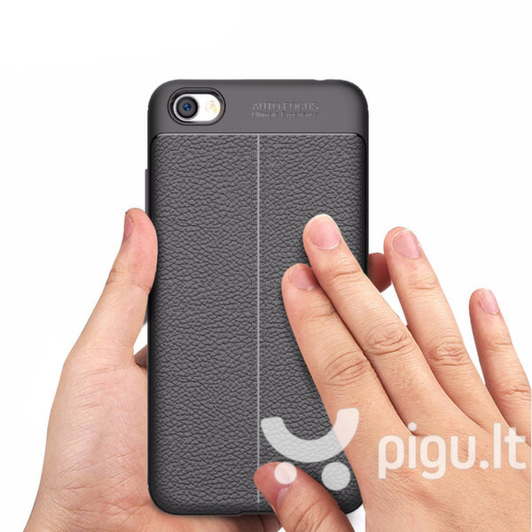 Litchi Pattern telefono dėklasXiaomi Redmi 5A juodas