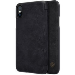 Nillkin Qin original leather case cover for iPhone XS / X black (Black) kaina ir informacija | Telefono dėklai | pigu.lt