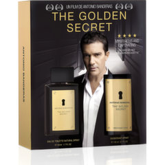 Rinkinys Antonio Banderas The Golden Secret vyrams: EDT 100 ml + purškiamas dezodorantas 150 ml