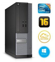 Dell 3020 SFF i3-4130 16GB 120SSD DVDRW WIN10Pro kaina ir informacija | Stacionarūs kompiuteriai | pigu.lt