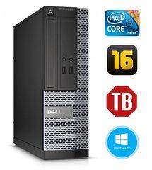 Dell 3020 SFF i3-4130 16GB 1TB DVDRW WIN10Pro kaina ir informacija | Stacionarūs kompiuteriai | pigu.lt