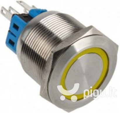 DimasTech LED Button 25mm Yellow (PD060)
