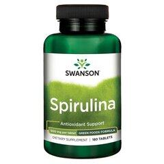 Maisto papildas Swanson Spirulina 500 mg., 180 tab. kaina ir informacija | Vitaminai ir maisto papildai imunitetui | pigu.lt