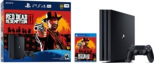 Sony PlayStation 4 (PS4) Pro, 1 TB + Red Dead Redemtion 2