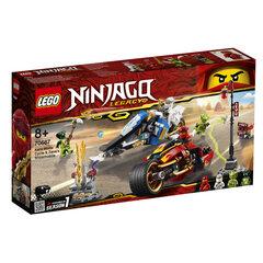 70667 LEGO® NINJAGO Kai kardų dviratis ir Zane sniegomobilis