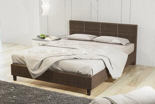 Lova su patalynės dėže Lux2-Preston, 160x200 cm, šviesiai ruda kaina ir informacija | Lovos | pigu.lt