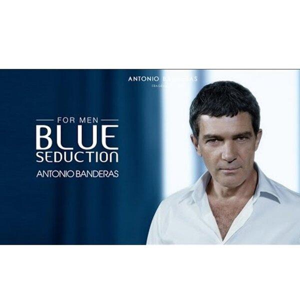 Rinkinys Antonio Banderas Blue Seduction: EDT vyrams 100 ml + balzamas po skutimosi 75 ml kaina