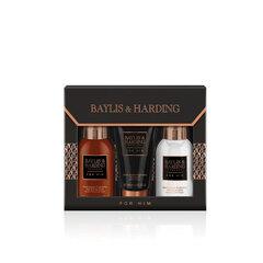 Kosmetikos rinkinys Baylis & Harding Men's Black Pepper & Ginseng: prausiklis kūnui ir plaukams 100ml + balzamas po skutimosi 100ml + prausiklis veidui 50ml kaina ir informacija | Skutimosi priemonės ir kosmetika | pigu.lt