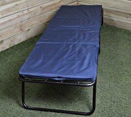Sulankstoma lova su čiužiniu, 188x66 cm, mėlyna