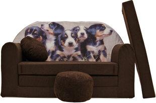 Išskleidžiama sofa Welox Maxx K7, ruda kaina ir informacija | Vaiko kambario baldai | pigu.lt