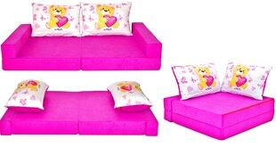 Išskleidžiama sofa Welox Maxx Collage H3, rožinė/balta kaina ir informacija | Vaiko kambario baldai | pigu.lt