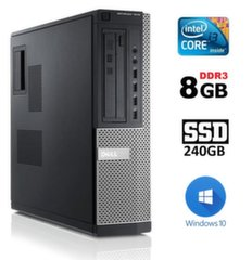DELL 7010 DT i3-3220 8GB 240SSD DVD WIN10Pro