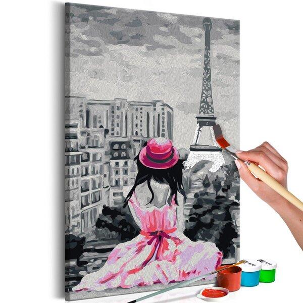 Pasidaryk pats paveikslas ant drobės Paryžius Žvilgsnis į Eifelio bokštą 40x60 cm. kaina ir informacija | Reprodukcijos, paveikslai | pigu.lt