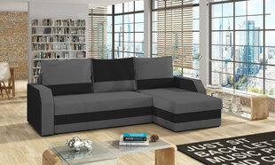 Universalus minkštas kampas Giulio, pilkas/juodas kaina ir informacija | Sofos, foteliai ir minkšti kampai | pigu.lt