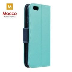 Mocco Fancy Book Case For Apple iPhone XS / X Mint / Blue kaina ir informacija | Telefono dėklai | pigu.lt