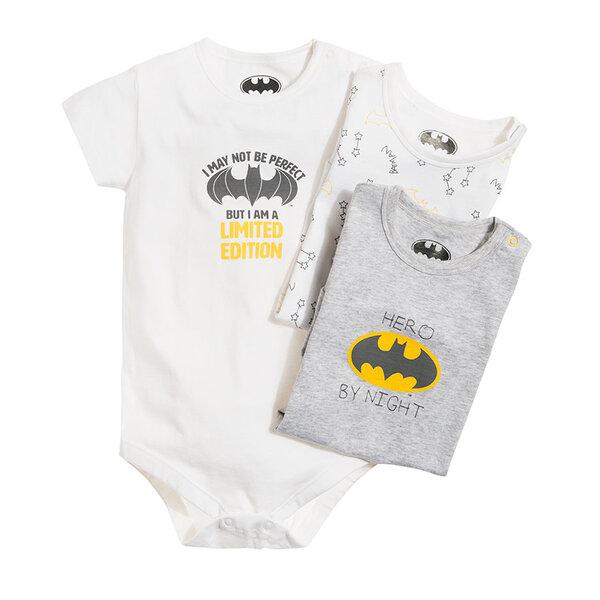 Cool Club smėlinukas trumpomis rankovėmis berniukams Betmenas (Batman), 3 vnt., LUB1805822-00