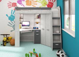 Двухъярусная кровать Antresola P, 200 x 80 см, белый/серый цвет цена и информация | Детские кровати | pigu.lt