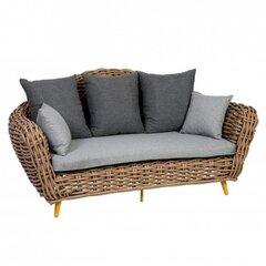 Lauko sofa Breit, ruda/pilka