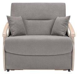 Miegamasis fotelis-sofa Ida Mini, pilka kaina ir informacija | Svetainės foteliai | pigu.lt
