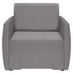 Miegamasis fotelis Ola II 1FBK, tamsiai pilkas kaina ir informacija | Svetainės foteliai | pigu.lt