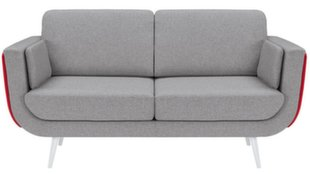 Sofa Possi Light 3S, pilka/raudona/balta