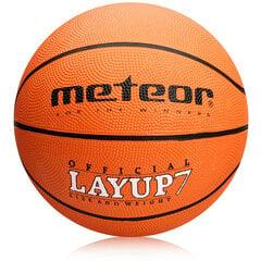 Krepšinio kamuolys Meteor Layup, 7 dydis, oranžinis